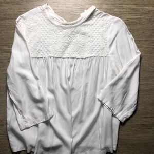 White lace Old Navy top